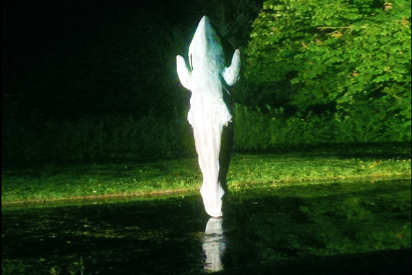 Lighting to garden sculpture