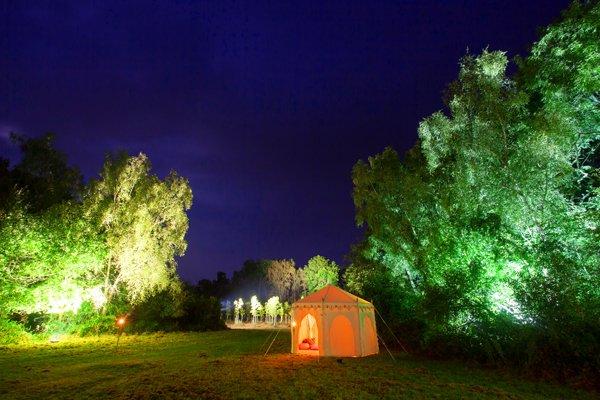 Lighting to little raj tent