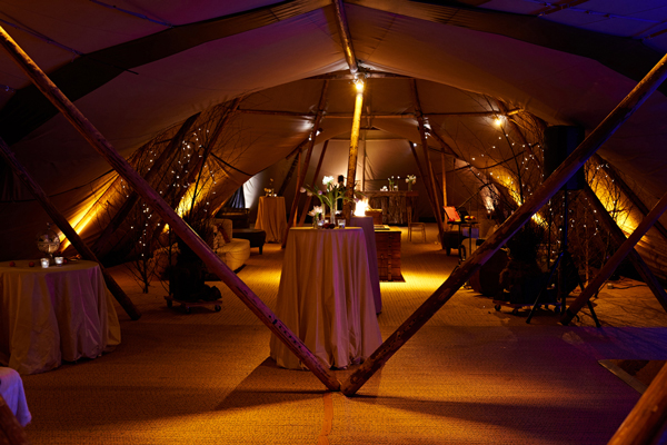 Atmospheric lighting to tipi